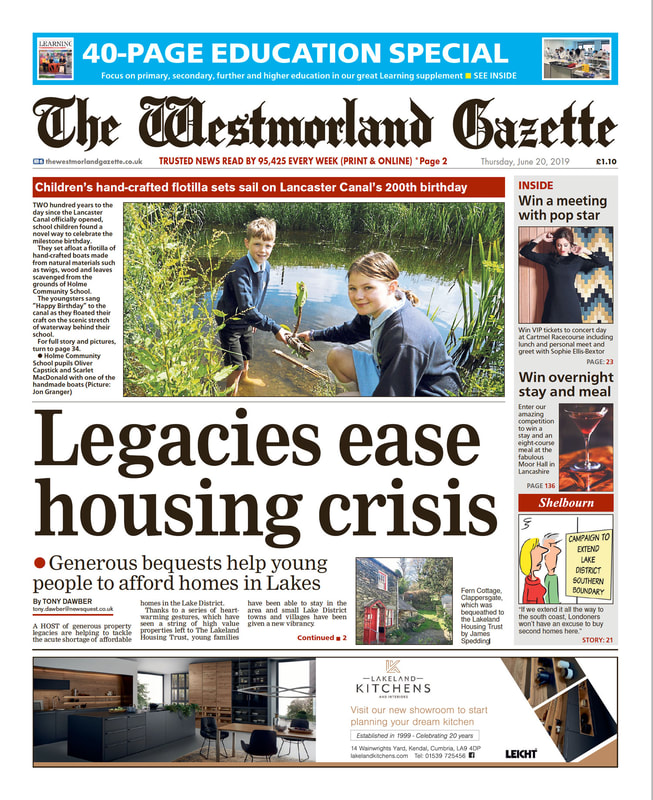 Lakeland Housing Trust - legacies ease housing crisis